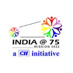 india at 75 logo